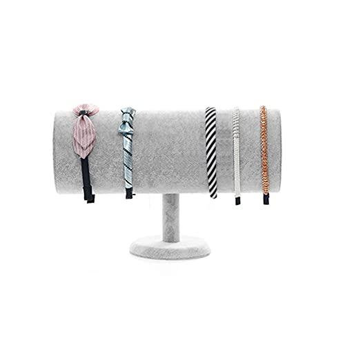 LIXFDJ Gris pelusa joyería St and - Headwear Jewelry Display Rack - Headb y soporte - para colocar en la exhibición joyería Sto re, A* Código de producto: WW-93 (color: A)
