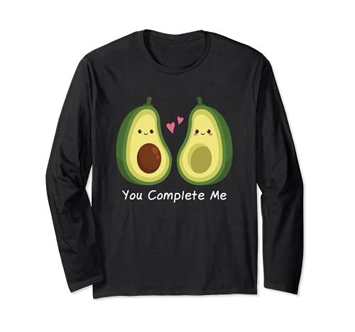 Camiseta Guacamole de aguacate Gift You Complete Me Manga Larga