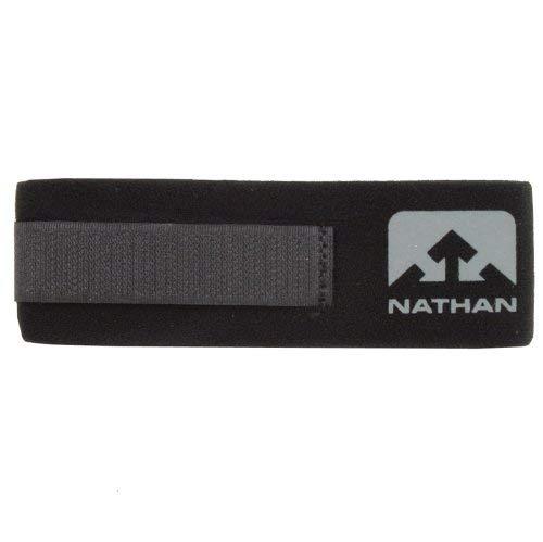 Nathan Timing Chip - Brazalete AnkleBand para chip para correr, negro