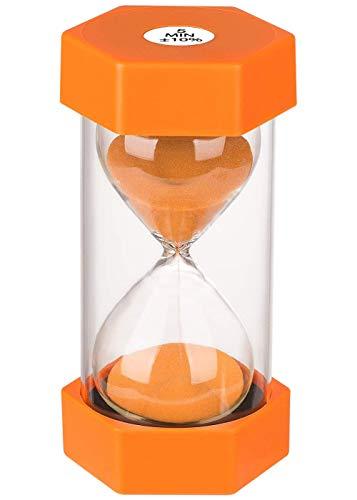 Reloj de Arena, Doble protección, temporizadores de Arena, Asistente de gestión del Tiempo, Regalo Creativo, decoración de la Oficina de la Sala de Estar (5 Minutos, Naranja)