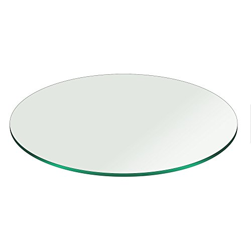 18' Inch Round Glass Table Top 3/8' Thick Pencil Polish Edge Tempered by Fab Glass and Mirror