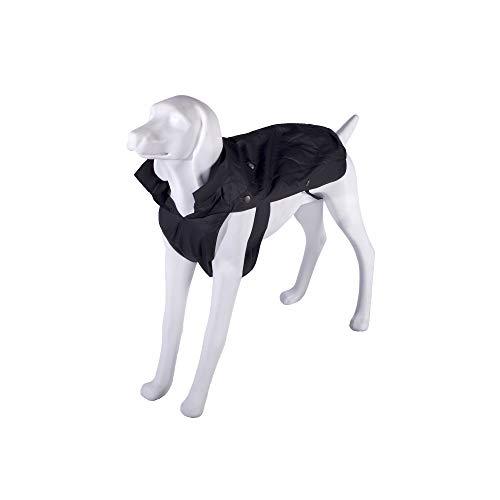 BOXEUR DES RUES Dog Collection, Cappotto Impermeabile per Cani Unisex – Adulto, Nero, 60 cm