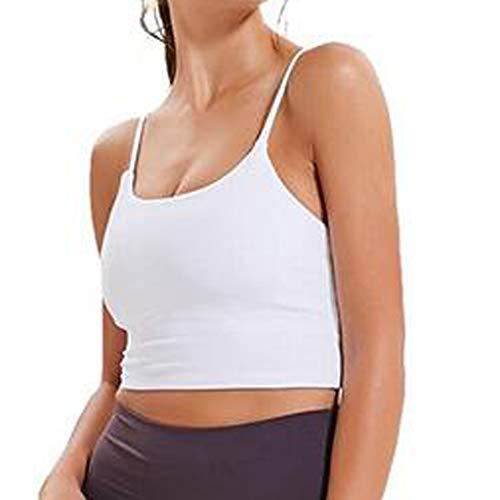 Dtuta Damen Bustier Top BH ohne Bügel Spaghettiträger Bralette BH Hemd | Frauen Sport Yoga Unterwäsche