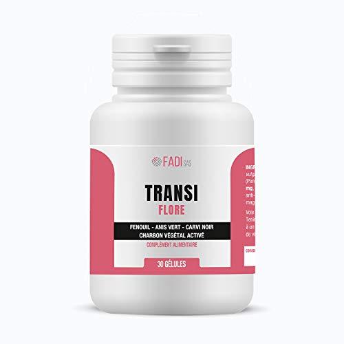 Transparant: actieve kool met 3 planten (venkel, groenanis en carvi) ter verbetering van het darmcomfort, anti-blaavorming en gas, vergemakkelijkt de spijsvertering.