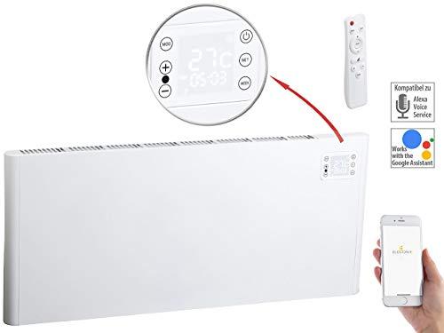 Sichler Haushaltsgeräte Elektroheizung WLAN: WLAN-Konvektor-Heizung mit App, komp. zu Alexa & Google, 2.000 Watt...