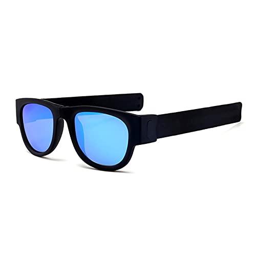 SHENGYANG, Pulsera Plegable de Gafas de Sol, Gafas de Sol de bofetadas de Pulsera, con Paquete UV400 1-C8