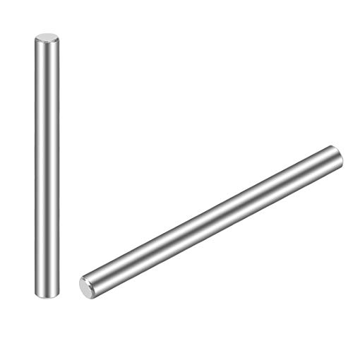 uxcell 4 x 60mm(Approx 5/32') Dowel Pin 304 Stainless Steel Wood Bunk Bed Dowel Pins Shelf Pegs Support Shelves 25Pcs