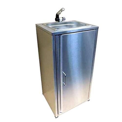 TMM Lavabo de lavabo en Acier Inoxydable Complet avec Accessoires et évier pour Le Camping