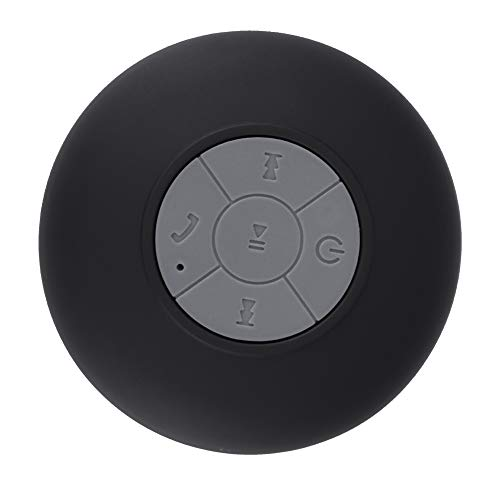 Vbestlife Altavoz Portátil al Aire Libre Inalámbrico Impermeable Altavoz Bluetooth con Ventosa Anti-Polvo y Anti-Caída para Baño,Camping,Coche(Negro)