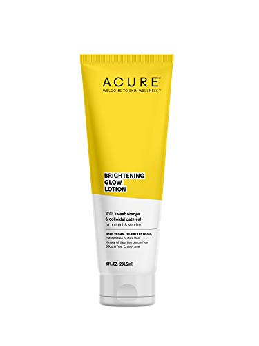 ACURE Brightening Glow Lotion | 100% Vegan | For A Brighter Appearance | Sweet Orange & Colloidal Oatmeal - Protects & Soothes | All Skin Types | 8 Fl Oz