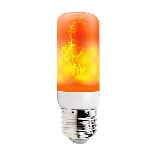 Mintice Flammen Lampe Glühbirne Flammenlicht E27 Base 5W LED Flammeffekt flackernde Feuerglühbirnen 4 Beleuchtungsmodi Schwere Atmung dekorativ retro Garten Party Weihnachten
