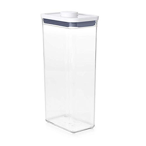 OXO Good Grips POP Container - Airtight Food Storage - 3.7 Qt Rectangle (Set of 4) for Cereal and...