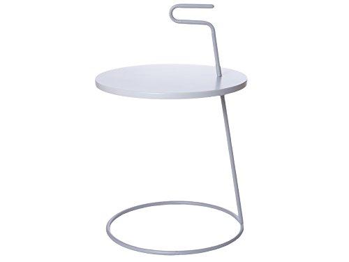 Leitmotiv LM834 Table Basse, Acier, Gris Clair