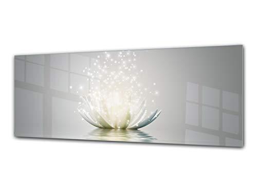 Cuadro deCristal Decorativo125 x 50 cm – Orquidea Blanca