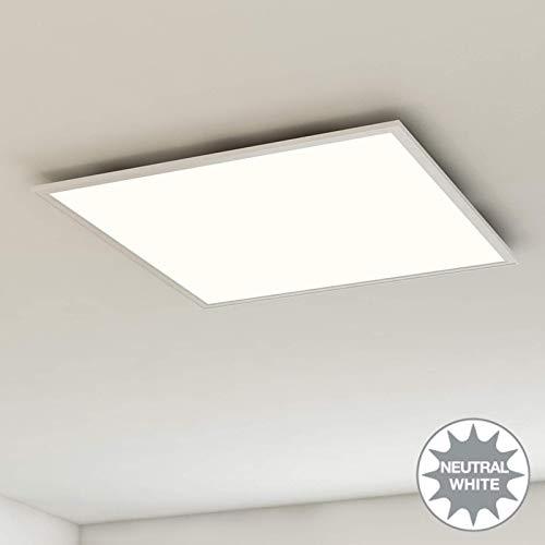Briloner Leuchten plafondlamppaneel, LED, woonkamerlamp, plafondlamp, plafondspot, 38W, vierkant, wit, 59,5 cm