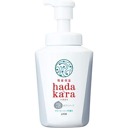 ハダカラhadakaraボディソープ泡タイプクリーミーソープの香り550ml