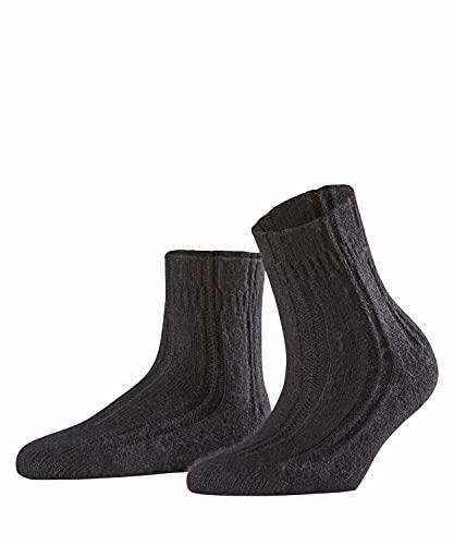 FALKE Damen Socken Bedsock, Angora, 1 Paar, Schwarz (Black 3009), 35-38 (UK 2.5-5 Ι US 5-7.5)