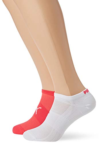 PUMA Damen PERFORMANCE TRAIN LIGHT SNEAKER 2P Socken, pink/White, 39-42 (2er Pack)