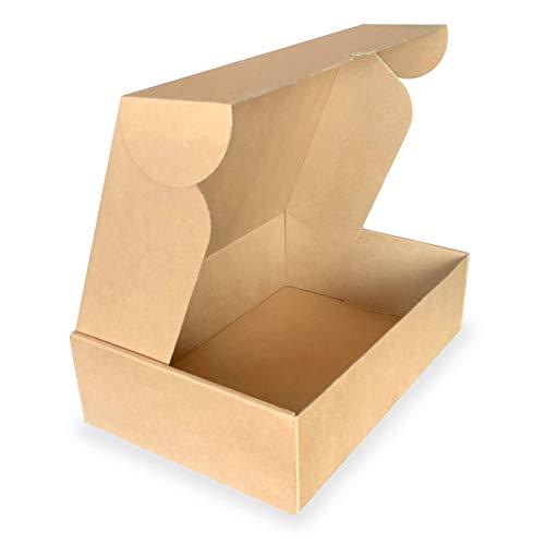 25 unidades | Caja de cartón automontable resistente y de alta calidad...