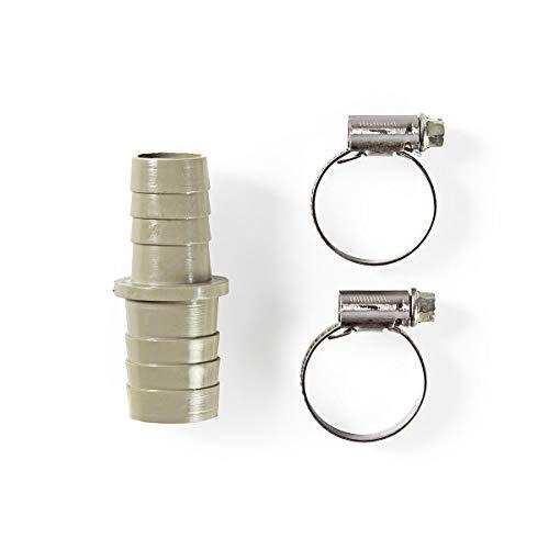 TronicXL Profi Verbinder Verbindung Schlauch Schläuche Wasser Ablaufschlauch Adapter Verlängerungsstück 19mm 22mm Set mit Schlauchschellen