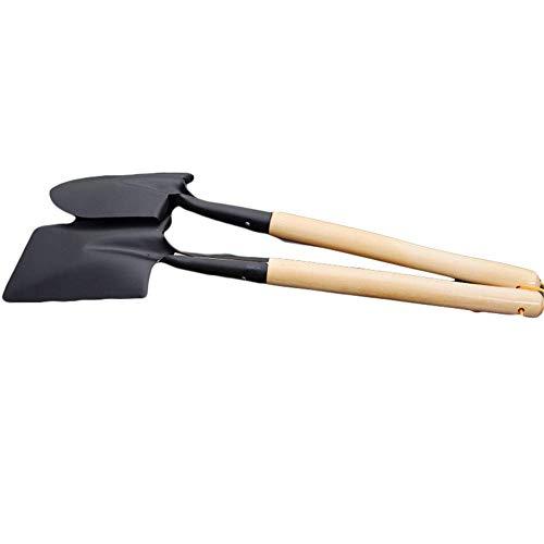 Yuany Gartenschaufel, kompletter Garten Heavy Duty, Schaufel Gartenhandwerkzeuge Ergonomischer Handgrabschwader Traditioneller Edelstahl-Randspaten mit Holzgriff