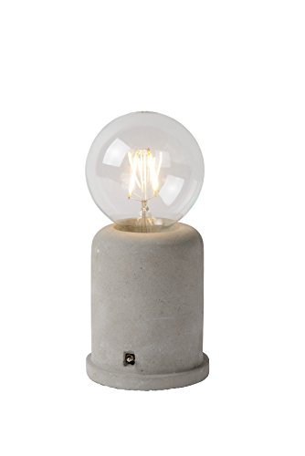 Lucide MABLE - Lampe De Table - Ø 10 cm - Taupe