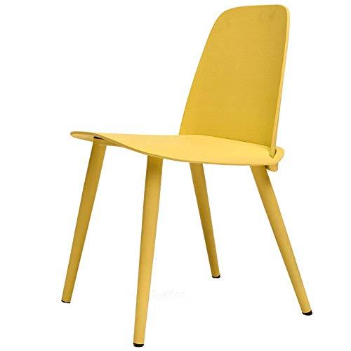 WSDSX Stuhl Modernes Design Esszimmerstühle Hoher Rücksitz Metallbein Schlafzimmer Wohnzimmer Schreibtisch Schreibtisch Tragfähigkeit 260 lbs Geeignet für Restaurants, Bars, Büros (Farbe: Sch