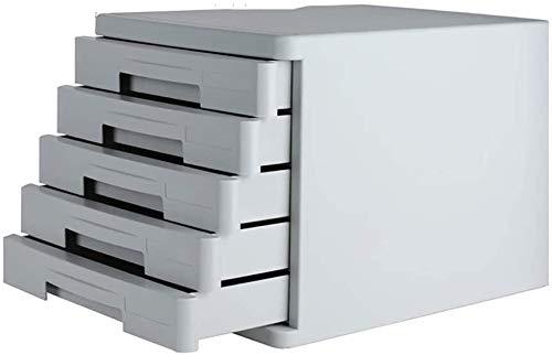 REWD Archivador de plástico, un archivador, Fichero archivador, 5-Cajón archivador for A4 Archivo, poniendo Archivo archivador de Oficina Vertical Gabinete (Color : 5 Layer)