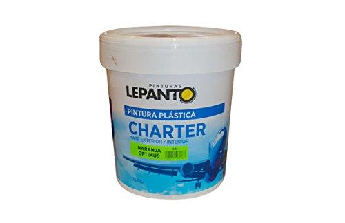 Pintura Plastica Int-Ext. 15L Naranja Opti