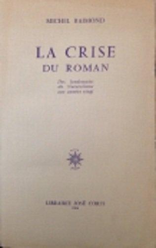 La Crise du Roman