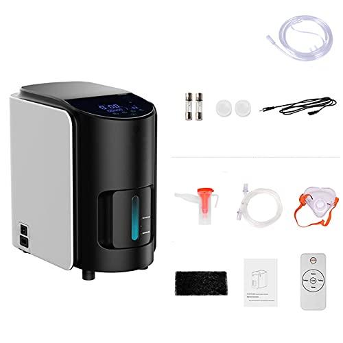 YZILXY Concentrador De Oxígeno Portátil, Generador De Oxígeno Portátil Ajustable De 1 a 7 L/Min, para Viajes En Casa, Uso En Automóvil para Ancianos Y Mujeres Embarazadas (no Funciona con Baterías)