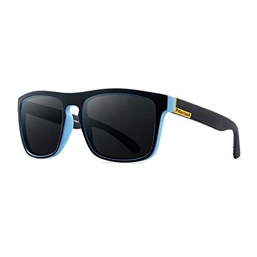 PADQ Moda Gafas deSolGafas deSol Hombres Clásico Espejo Moda Señoras Gafas de Sol Hombres Negro Azul