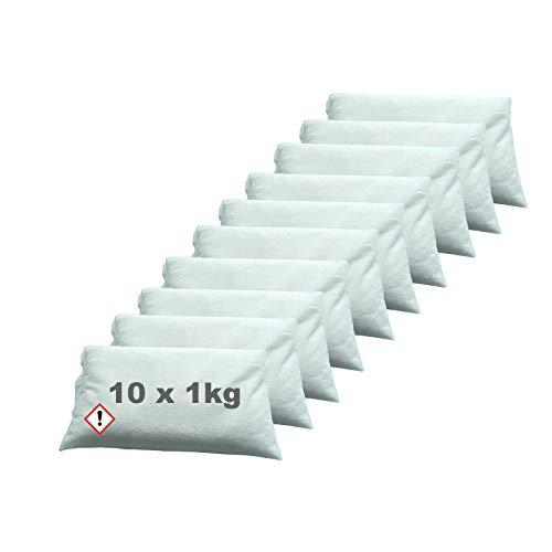 Luftentfeuchter Granulat im Vliesbeutel 10 x 1kg Keller-Trockner Anti Feuchtigkeit