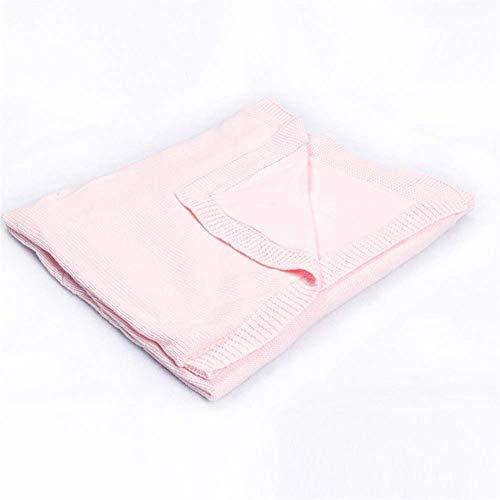 Versátil Manta Suave para bebés Manta para bebés Manta de Punto Suave Algodón Ideal para Viajes Algodón Suave Manta para bebés Sofá Color: Rosa, Tamaño: 70x90cm