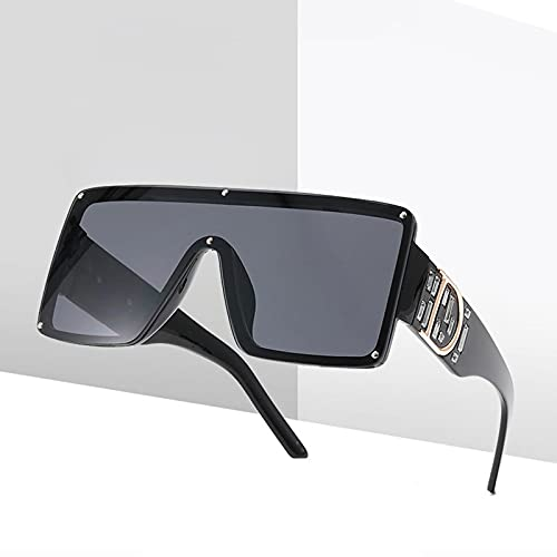 BANLV Gafas de Sol para Hombre con Diamantes, Gafas de Sol con Montura Grande de Metal, conducción al Aire Libre para Mujer