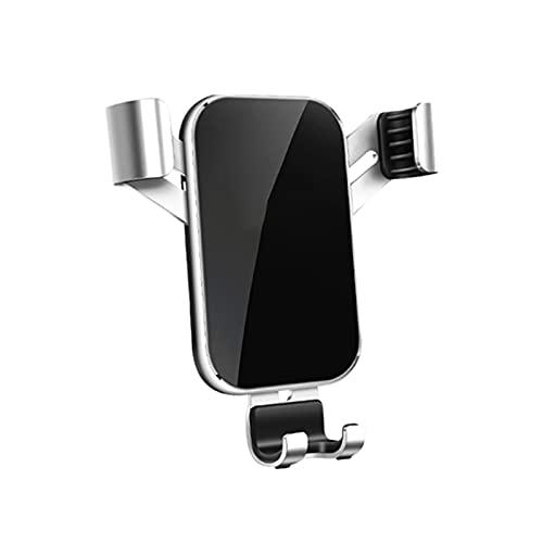 Soporte para teléfono para automóvil para coche Vent/CD Slot Slot Soporte de teléfono Soporte Soporte de teléfono móvil Gravedad (Color : Silver)