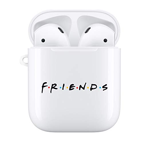 Friends Airpods Case,Friends Tv Show Merchandise,AirPods Case Protective Cover Skin - White Premium Hard Shell Accessories Compatible with Apple AirPods (Friends)