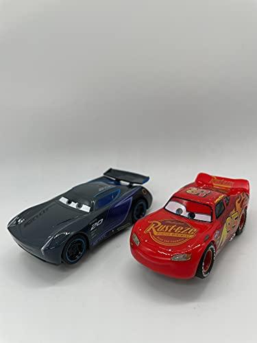 Greenhills Carrera First Disney Pixar Cars Lightning McQueen & Jackson Storm Slot Car Pair 1.64 Scale - NEW - 22581