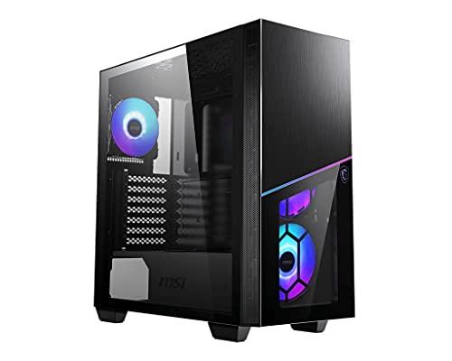 MSI Mpg Sekira 100R Case Gaming Mid Tower ATX   E-ATX, 3x USB 3.2, 4x 120mm ARGB Preinstallate, Supporta Radiatori fino a 360 mm, Illuminazione led ARGB