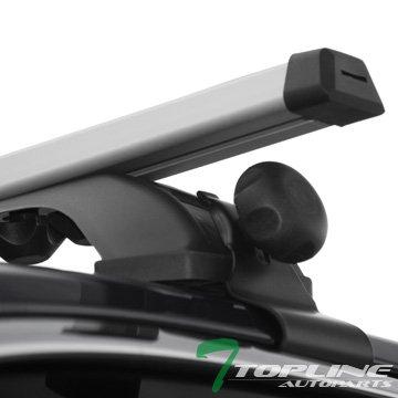"""Black 50/"""" Oval Adjustable Window Frame Roof Rack Rail Cross Bars Luggage Kit S4"""