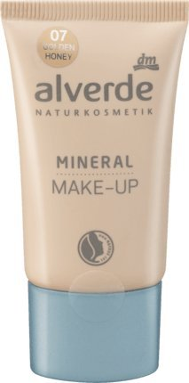 alverde NATURKOSMETIK vegan Mineral Make-up golden honey 07, 30 ml