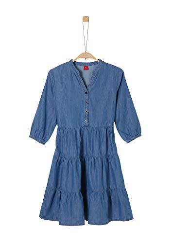 s.Oliver Junior 401.10.004.20.200.2040760 Kleid, Mädchen, Blau 158 REG