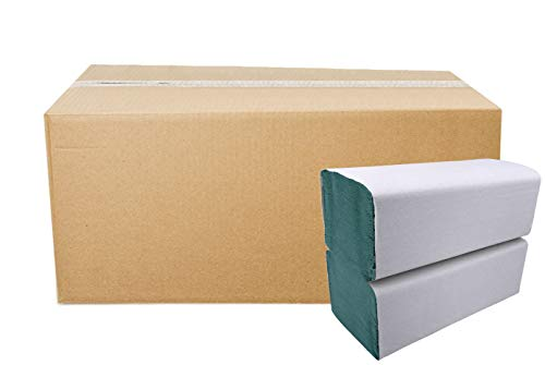5.000 Blatt Papierhandtücher Premium Falthandtuch Grün 1-lagig 25 x 23 cm ZZ-Falz