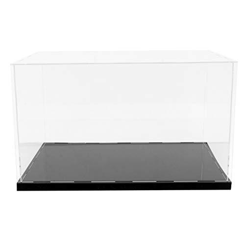 Angoily Vitrina de Acrílico Transparente Montar Caja de Encimera Organizador de Cubos Soporte Escaparate de Protección para Figuras de Acción Juguetes Coleccionables L