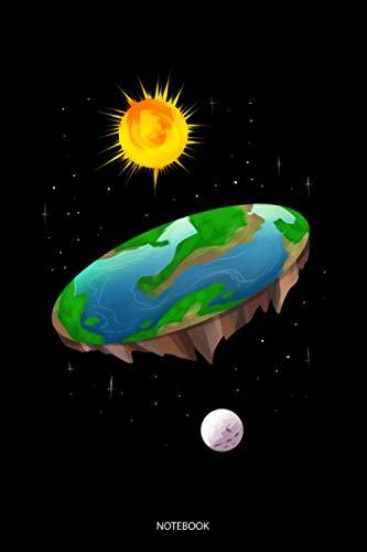 Notebook: Liniertes Notizbuch A5 - Flache Erde Verschwörung Theorie Erde Flat Earth Notizbuch