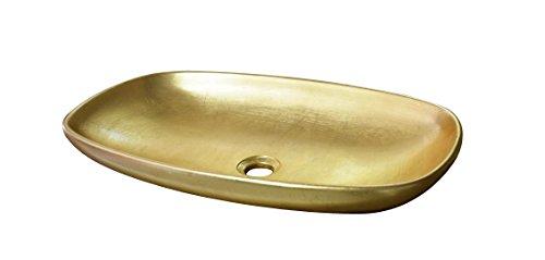 Taberner wastafel Gold Casablanca, hars C, goud, 60 x 36 x 11 cm