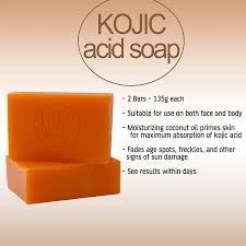 Double Pack 2 Original Kojie San Lightening Soaps of 65g, Authentic Kojic Acid Skin Lightening Soap by Kojie San (2 Seifen : 2x65g)