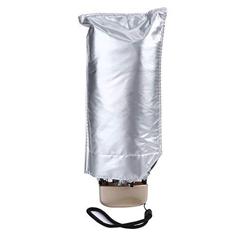 SALALIS Paraguas de Viaje, Paraguas Plegable UV 5 Mini Práctico para la Lluvia Solar para protección contra la Lluvia