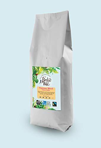 Bird & Wild Kaffeebohnen Espresso 1kg Mischung Mittlere Röstung, Fairtrade Bio Organisch im Schatten angebaut Vogel Freundlicher Kaffee, Ganze Bohnen Kaffee, 1kg Nettogewicht