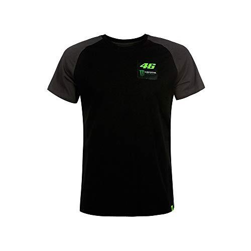 VALENTINO ROSSI Dual Monster T-Shirt pour Homme XL Noir